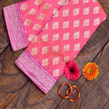 Pink-pure-banarasi-saree