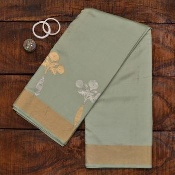 light pista green banarasi saree