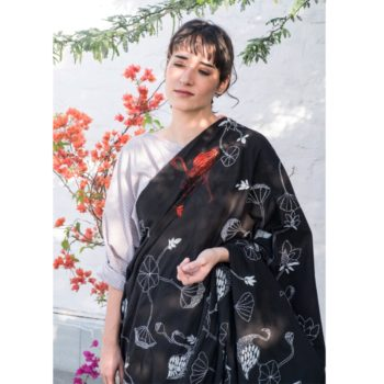 Black Khadi Saree