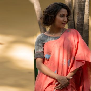 peach-pure-khadi-saree