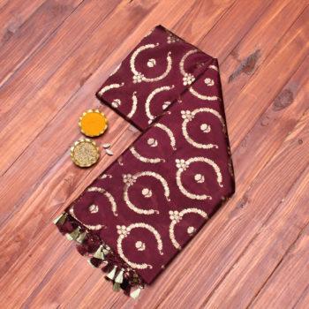 deep-brown-pure-banarasi-saree