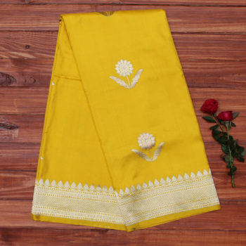 yellow-pure-katan-banarasi-silk-saree