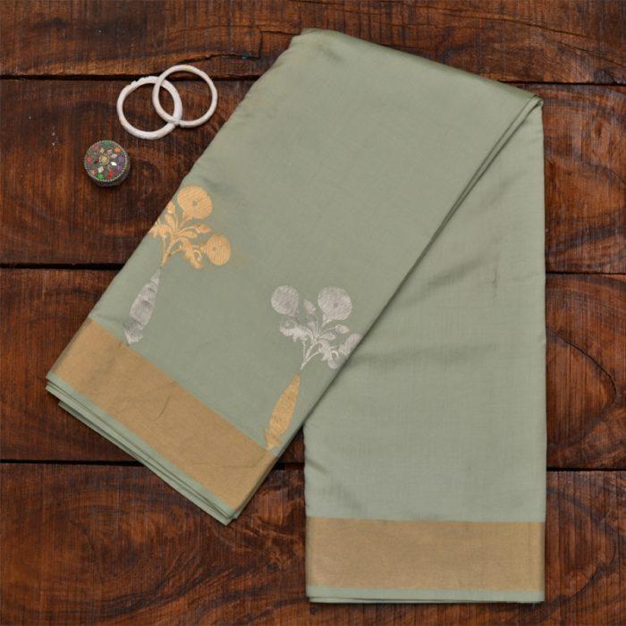 light pista green banarasi saree