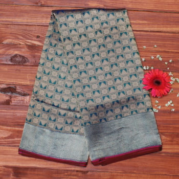 Greenish-blue-pure-banarasi-saree