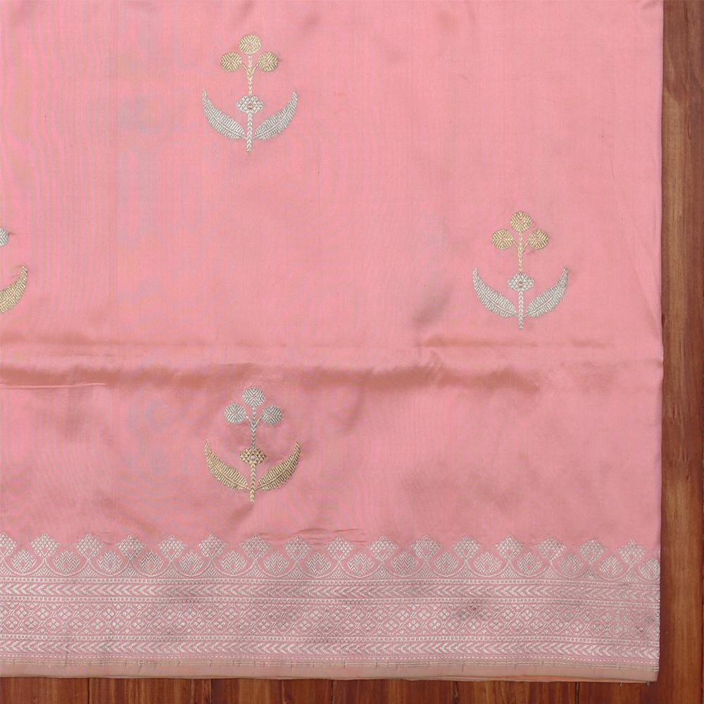 Www Banarasisareeinnepal: Blush Pink Pure Katan Silk Banarasi Handloom Saree