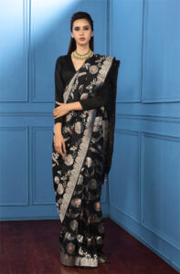 black_pure_banarasi_saree