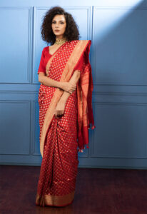 red_bootidaar_banarasi_saree