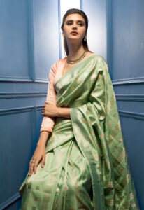 aqua_green_banarasi_saree