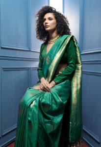 deep_green_banarasi_saree