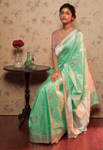 sea_green_pure_katan_banarasi_saree
