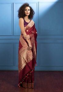 wine_pure_banarasi_saree