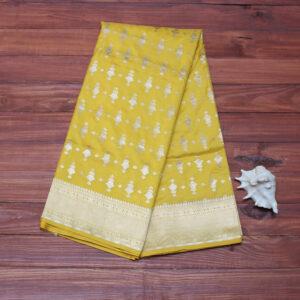 sunflower_yellow_pure_katan_banarasi_saree