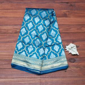 powder_blue_banarasi_saree
